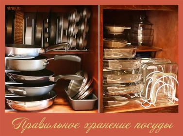 хранение посуды на кухне